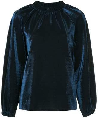 Tibi metallic lurex blouse