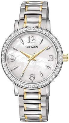 Citizen Ladies' Two-Tone Quartz Swarovski Bracelet Watch