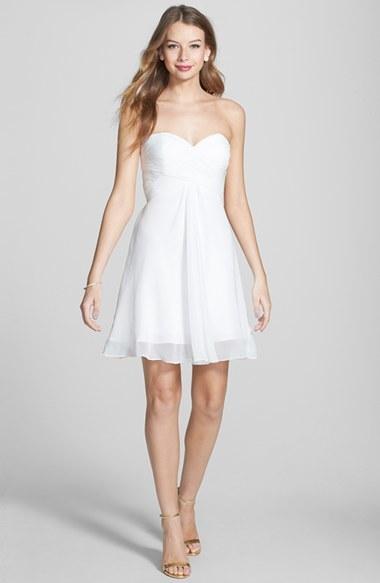 Faviana Chiffon Fit & Flare Dress