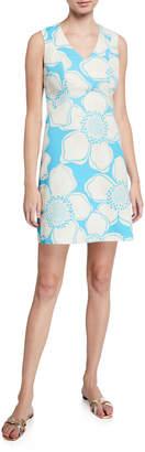 Julie Brown Fern Floral-Print Sleeveless Dress