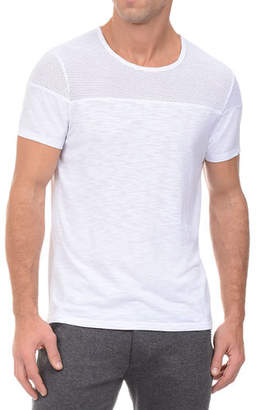 2xist Mesh Panel Textured Jersey T-Shirt