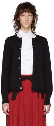 Comme des Garcons Black Back Pleat Cardigan