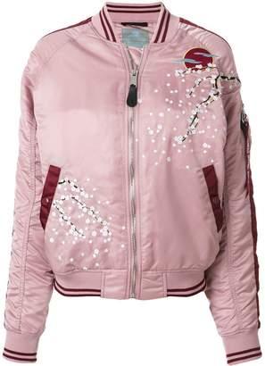 Alpha Industries blossom detail bomber jacket