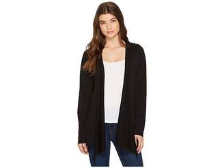 Mod-o-doc Cotton Modal Fleece Button Hem Hooded Cardigan Women's Sweater