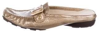 Stuart Weitzman Leather Loafer Mules
