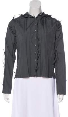 Issey Miyake Distressed Button-Up Top