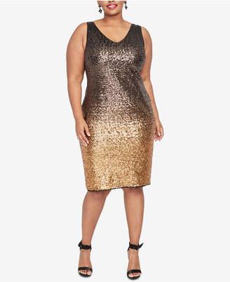 Rachel Roy Plus Size Tricolor Ombre Sheath Dress