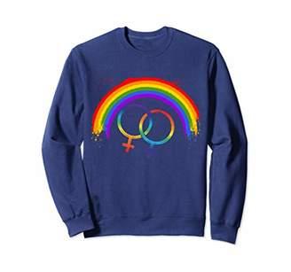 LGBT Rainbow Gay Pride Women Ladies Girls Teens Lesbian Gift Sweatshirt