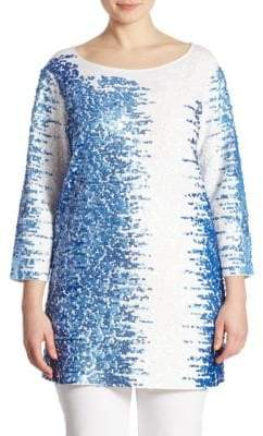 Joan Vass Plus Sequin Tunic