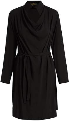 Vivienne Westwood Tondo cowl-neck draped dress