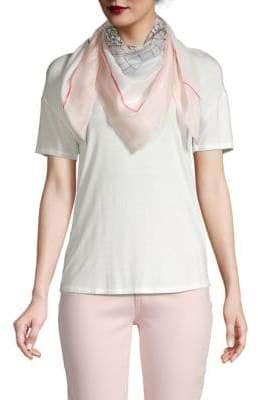 bf085017516 Karl Lagerfeld Paris Graphic Cotton   Silk Scarf