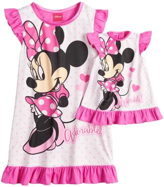 "Disney Disney's Minnie Mouse ""Adorable"" Dorm Nightgown & Doll Nightgown"