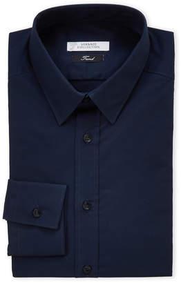 Versace Navy Trend Fit Dress Shirt