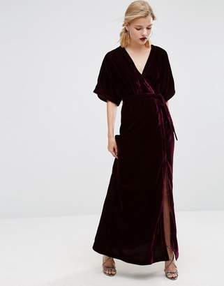 ASOS Velvet Maxi Dress with Button Detail $97 thestylecure.com