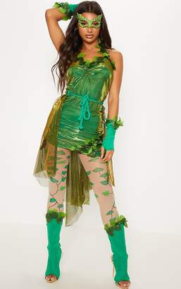 PrettyLittleThing Green Poison Ivy Costume