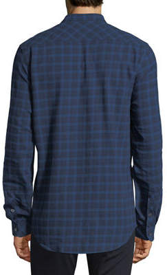 Civil Society Plaid Tab-Collar Button-Front Shirt