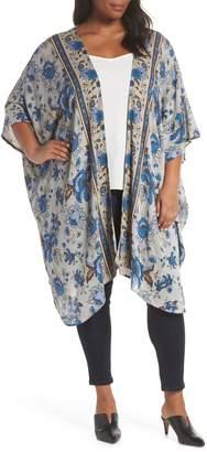 Angie Floral Print Kimono