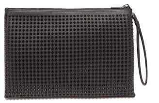 Christian Louboutin Kaloupouch Studded Leather Pouch - Mens - Black