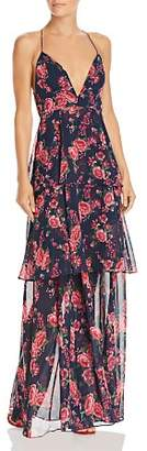 Fame & Partners Wyatt Floral Tiered Gown