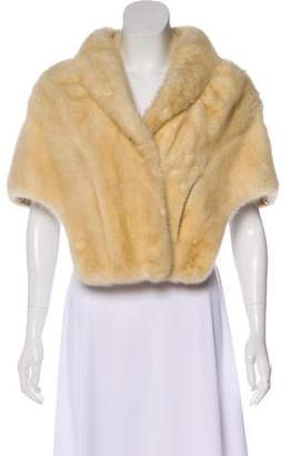 Fur Collarless Tailored Cape
