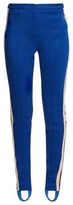 Gucci Contrast Stripe Stirrup Hem Leggings - Womens - Blue Multi