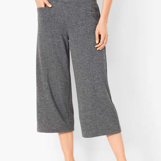 Talbots Heathered Terry Wide-Leg Crops