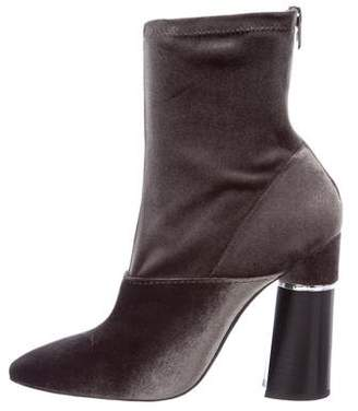 3.1 Phillip Lim Velvet Almond-Toe Booties w/ Tags