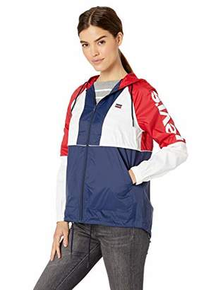 Levi's Women's Plus Retro Lightweight Nylon Anorak Rain Jacket (Standard & Plus Sizes)