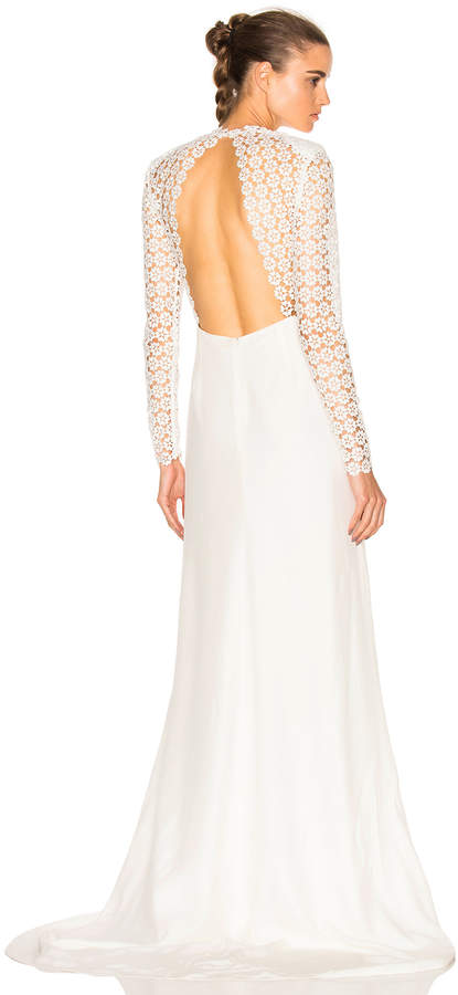 self-portrait Eva Backless Silk Wedding Dress