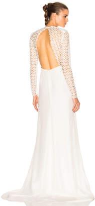 self-portrait Eva Backless Silk Wedding Dress $1,350 thestylecure.com