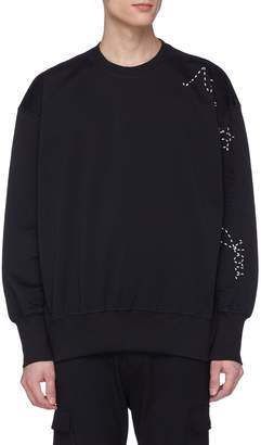 Y-3 Slogan sashiko stitched sweatshirt