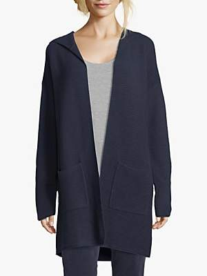 Betty Barclay Betty & Co Ribbed Knit Open Neck Hoodie