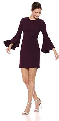 db14fe42988d Calvin Klein Women's Solid Sheath with Cascading Bell Sleeves