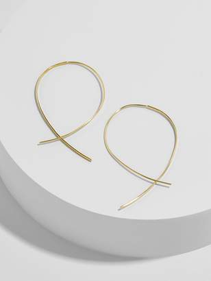 BaubleBar Pallone 18K Gold Plated Hoop Earrings