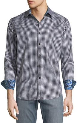 Robert Graham Classic-Fit Sputnik Sport Shirt, Black