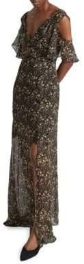French Connection Hallie Drape Cold-Shoulder Maxi Dress