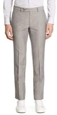 Saks Fifth Avenue MODERN Ford Wool& Linen Pants