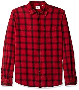 AG Adriano Goldschmied Men's Colton Long Sleeve Washed Plaid Button Down
