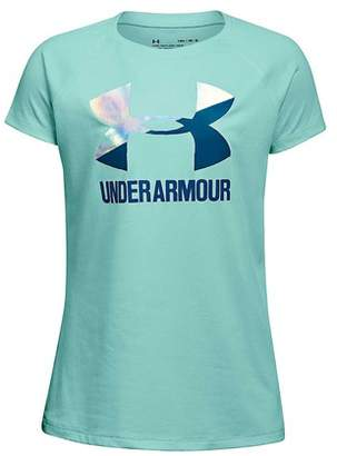 Under Armour Girl's Big Logo Tee
