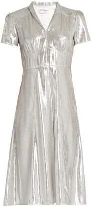 Morgan HVN short-sleeved lamé dress