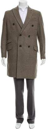 Lanvin Double-Breasted Houndstooth Overcoat