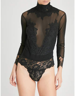 HOT AS HELL Take Hah Bow reversible stretch-mesh body