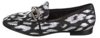 Michael Kors Leopard Metallic Loafers Black Leopard Metallic Loafers