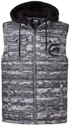 Ecko Unlimited Unltd Men Flyknit Quilted Hooded Vest