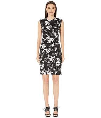 Moschino Plush Chess Print Sleeveless Dress