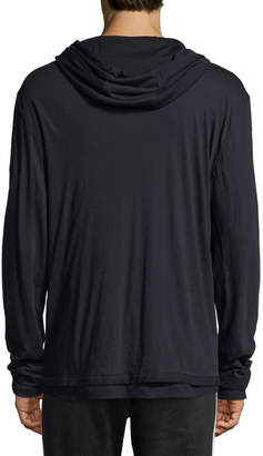 Vince Double-Layer Pullover Hoodie, New Coastal
