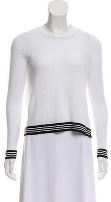 Rag & Bone Draped-Back Perforated Sweater