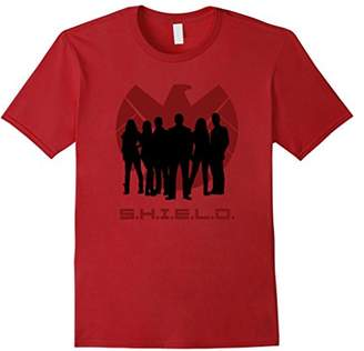 Marvel Agents of SHIELD Silhouette Logo Graphic T-Shirt