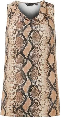 Dorothy Perkins Womens Neutral Snake Print Tunic Top