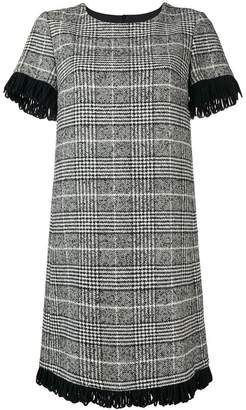 Blugirl fringed check dress